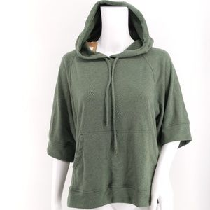 NWT prAna Forest Green Palmetto Hoodie Size Large